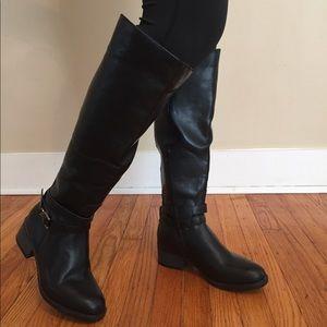 Knee high black boots